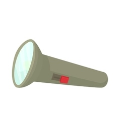 Flashlight icon cartoon style vector image