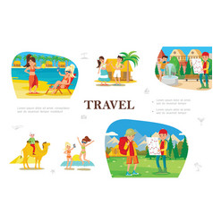 flat summer travel concept vector image