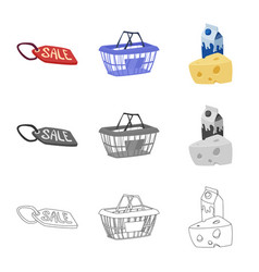 Food and drink sign set of vector