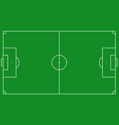 Football field scheme vector