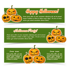 happy halloween abstract horizontal banners vector image