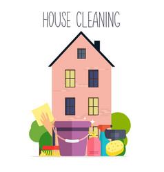 house cleaning poster template for house cleaning vector image