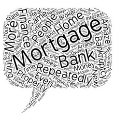 How Repeatedly To Finance Mortgage After vector image