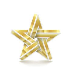Impossible star imitation metal vector
