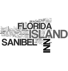 Island inn sanibel florida text background word vector