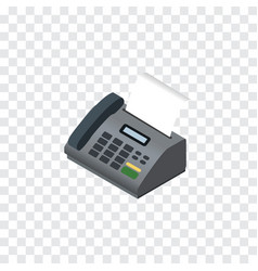 isolated fax telephone isometric office phone vector image