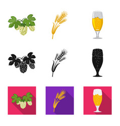 isolated object of pub and bar logo collection of vector image