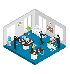 isometric stress at work concept vector image