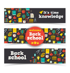 learning horizontal banners vector image