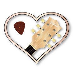 Love guitar vector