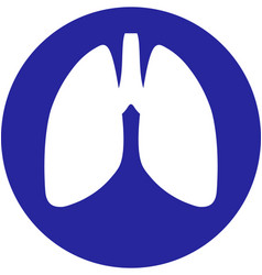 lungs within a circle icon vector image