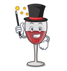 Magician wine mascot cartoon style vector