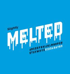 Melting style font design vector