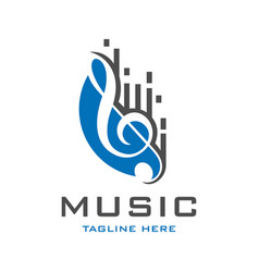 musical instrument logo vector image