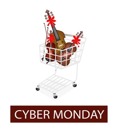 Musical instrument strings in cyber monday cart vector