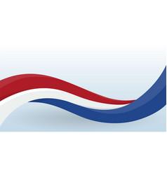 Netherlands waving national flag modern unusual vector