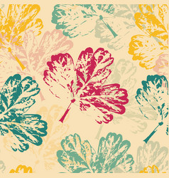 pattern with leaves on warm background vector image