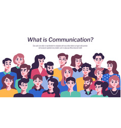 people communication concept vector image