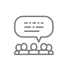 people with speech bubbles feedback opinion vector image