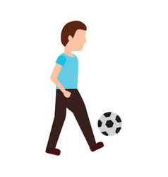 person playing soccer or football icon image vector image