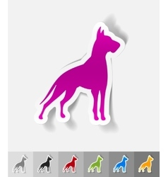 Realistic design element great dane vector