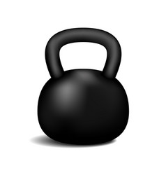Retro dumbbell with a shadow vector