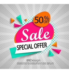 Sale - special offer - bright modern banner vector