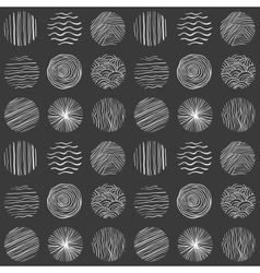 Seamless circle pattern Hand-drawn background vector