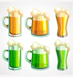 set of beer before st patrick s day vector image