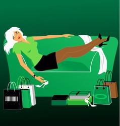 Shopaholic vector image