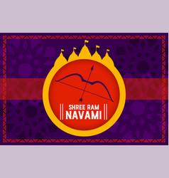 Shree ram navami festival celebration concept vector