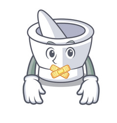 Silent mortar mascot cartoon style vector