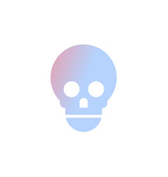 skull icon human anatomy healthcare medical vector image