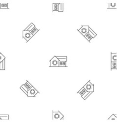 smart home pattern seamless vector image