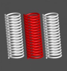 springs vector image