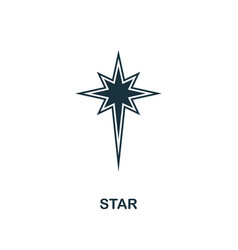 star icon creative element design from easter vector image