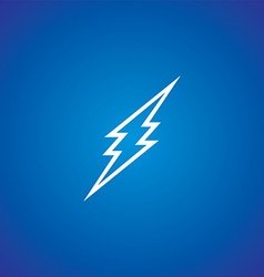 thunder storm sign vector image