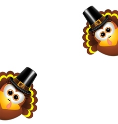 Two funny turkeys on a white background vector image