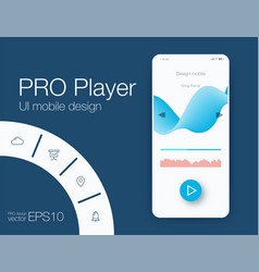 ux audio player templates vector image