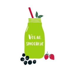 Vegan smoothie vector image