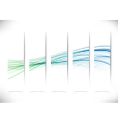 Vertical abstract swoosh line flyers collection vector