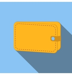 Wallet colored flat icon vector image