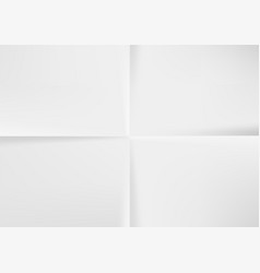 White a4 paper folded four times top view vector