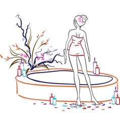 Woman in spa salon vector