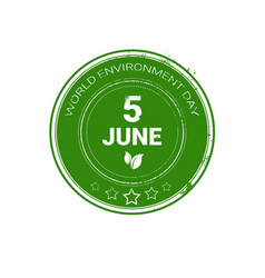 World environment day stamp icon ecology vector