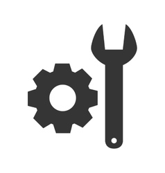 wrench cogwheel tool icon graphic vector image
