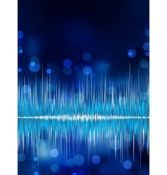 Abstract bokeh waveform background EPS 8 vector image