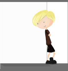 Children and blank wall background vector image