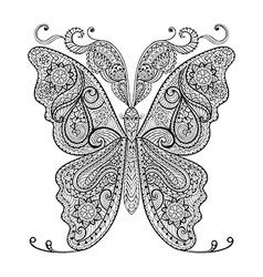 Hand drawn magic butterfly for adult anti stress vector image vector image