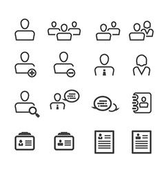 user icon line vector image vector image